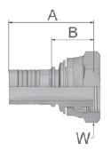 KC047 - koncovka DKM středotlaká přímá s maticí