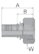 KC947 - koncovka DKOS středotlaká přímá s maticí