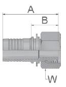 KCA47 - koncovka DKOL středotlaká přímá s maticí
