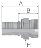 KD247 - koncovka CES středotlaká přímá