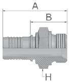 KD947 - koncovka AGR středotlaká přímá