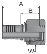 KEA47 - koncovka DKOR středotlaká přímá s maticí