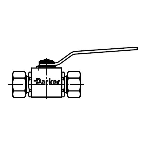 KH(71) - dvoucestný nerezový ruční kulový kohout