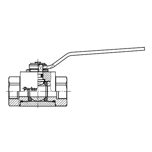 KH-BSPP(71) - dvoucestný nerezový ruční kulový kohout
