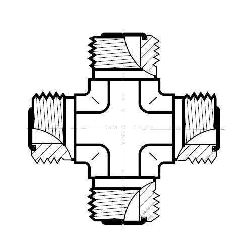 KLO - hydraulická křížová spojka šroubení O-Lok