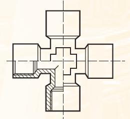 KMMOO4BL - pneumatický křížový adaptér
