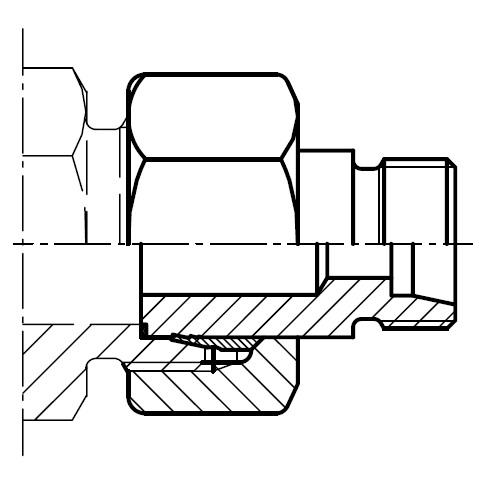 KOR - hydraulická redukční spojka šroubení