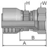 10643 - koncovka DKJ středotlaká nerezová přímá s maticí