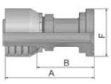 11548 - koncovka SFL středotlaká nerezová přímá na přírubu