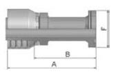 16A48 - koncovka SFS středotlaká nerezová přímá na přírubu