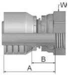 19243 - koncovka DKR středotlaká nerezová přímá s maticí