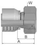 1C943 - koncovka DKOS středotlaká nerezová přímá s maticí