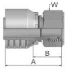 1CA43 - koncovka DKOL středotlaká nerezová přímá s maticí