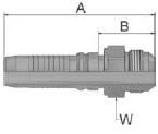 K03V4 - koncovka AGJ vysokotlaká přímá