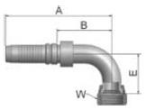 K39V4 - koncovka DKJ vysokotlaká 90°úhlová s maticí