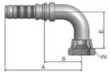 K39V6 - koncovka DKJ vysokotlaká 90°úhlová s maticí