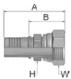 K6847 - koncovka DKJ středotlaká nerezová přímá s maticí