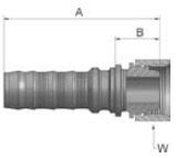 K92V6 - koncovka DKR vysokotlaká přímá s maticí
