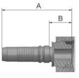 KC9V4 - koncovka DKOS vysokotlaká přímá s maticí