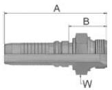 KD9V4 - koncovka AGR vysokotlaká přímá