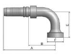 KXNV4 - koncovka vysokotlaká 90°úhlová na přírubu