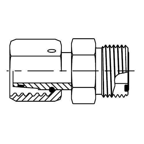 LOHU86 - hydraulický adaptér O-Lok