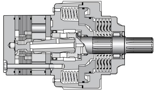 Orbitální hydromotory s integrovanou brzdou BG