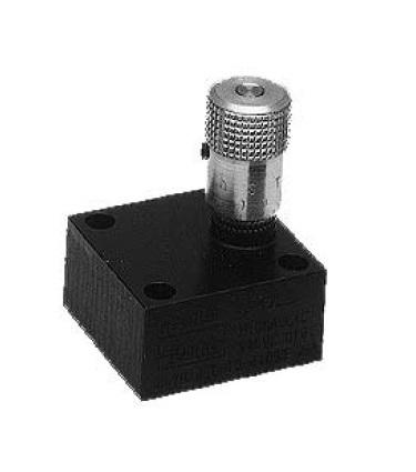 NS - uzavírací a škrtící jehlový ventil s obdélníkovou deskou