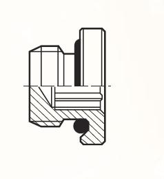 P4UNBL - pneumatická zátka adaptéru s O-kroužkem