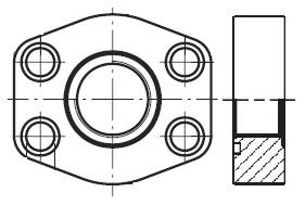 PAFSF-G - hydraulická nízkotlaká celá příruba šroubení