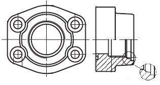 PAFS-U - hydraulická vysokotlaká přímá příruba šroubení