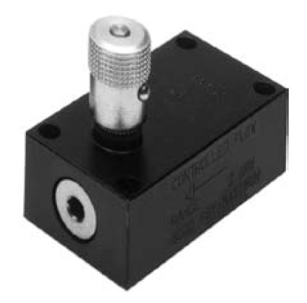 PC_MS - dvoucestný škrtící a zpětný ventil s obdélníkovou deskou