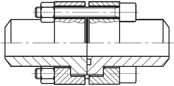 PDCF-B - vysokotlaká dvojitá čtvercová příruba CETOP na V-sváry