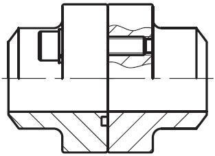 PDFS-B - vysokotlaká přímá příruba na V-sváry, kompletní sada