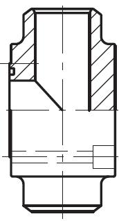 PTCF-B - vysokotlaká čtvercová T příruba CETOP 180° na V-sváry