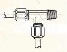 R3BM - nástrčná EL dvoudílná spojka mosazná Metrulok