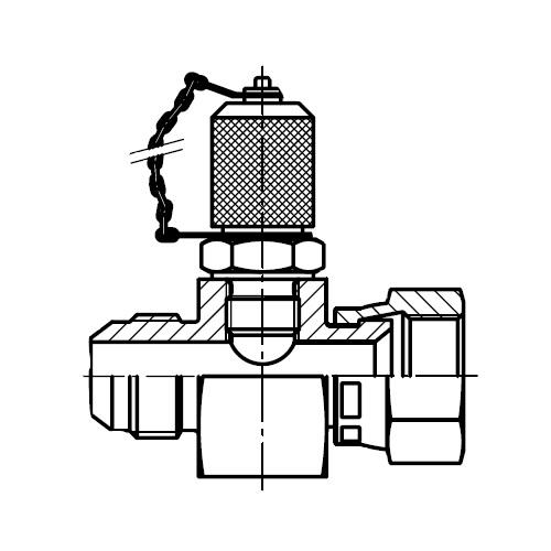 R6P4MX - zkušební konektor na EMA3 s maticí Triple-Lok® 37°
