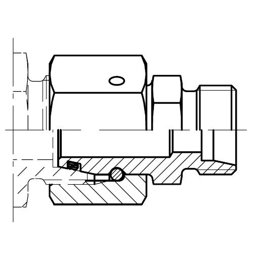 RED - hydraulická redukční spojka šroubení s kuželem