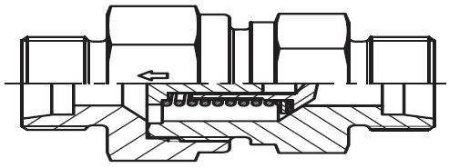 RHD - hydraulický jednosměrný zpětný ventil