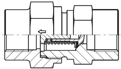RHDI - hydraulický jednosměrný zpětný ventil