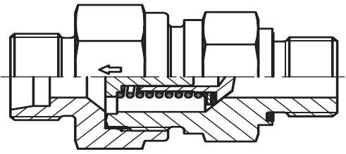 RHV-M-ED - hydraulický jednosměrný zpětný ventil