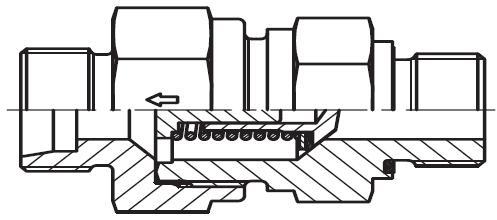 RHV-R-ED - hydraulický jednosměrný zpětný ventil
