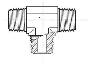 RRS-S - hydraulický T adaptér