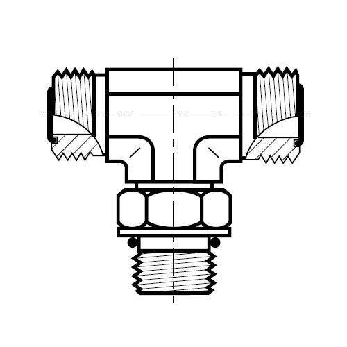 S5OMLO - hydraulická stavitelná T spojka šroubení O-Lok