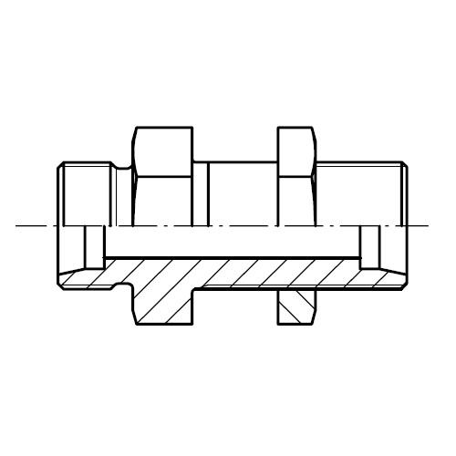 SV - hydraulická přímá průchodka šroubení