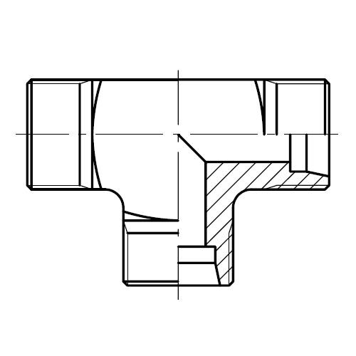T - hydraulická spojka T šroubení