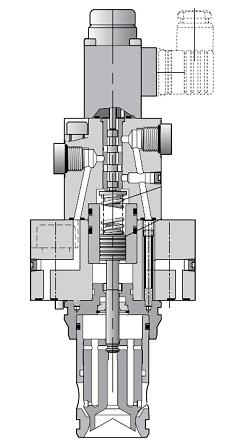 TDA_W - hydraulický proporcionální šktrící ventil