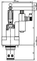 TEH_W - hydraulický škrtící ventil s uzavíracím ventilem