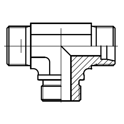 TE-R - hydraulické T hrdlo s těsnící hranou