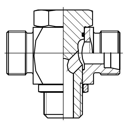 TH-R - vysokotlaká stavitelná T přípojka